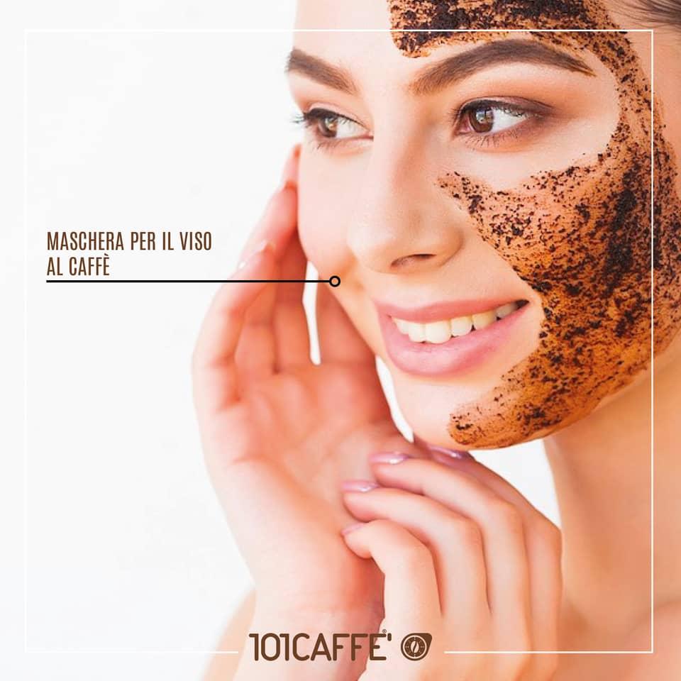 Maschera viso al caffe'