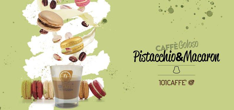 101CAFFE' Pistacchio e Macaron: un duetto goloso ed intrigante