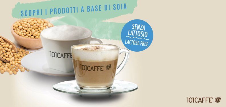 Bevande alla Soia by 101CAFFE': taste and well-being of soy for your own coffee maker