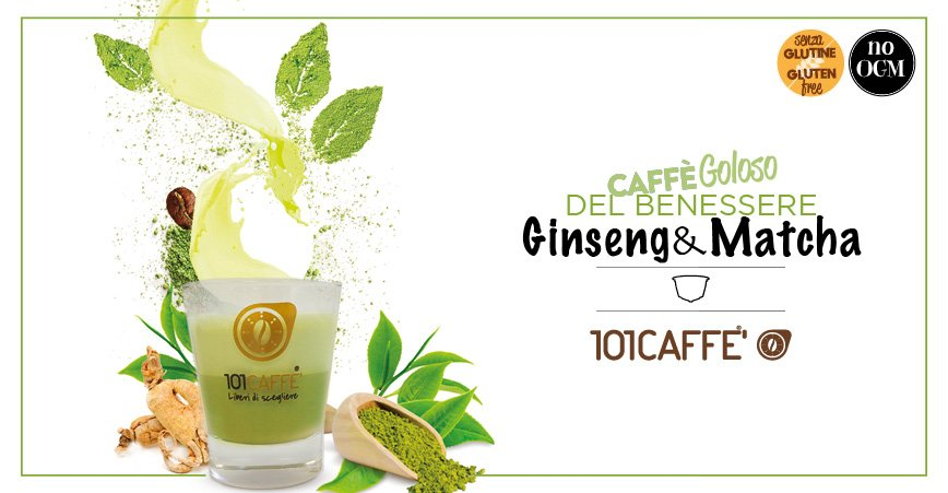 101caffe Network Of Stores Specializing In Coffee From The Best Italian Roasting Companies Ginseng Matcha By 101caffe A Real Elixir Of Well Being
