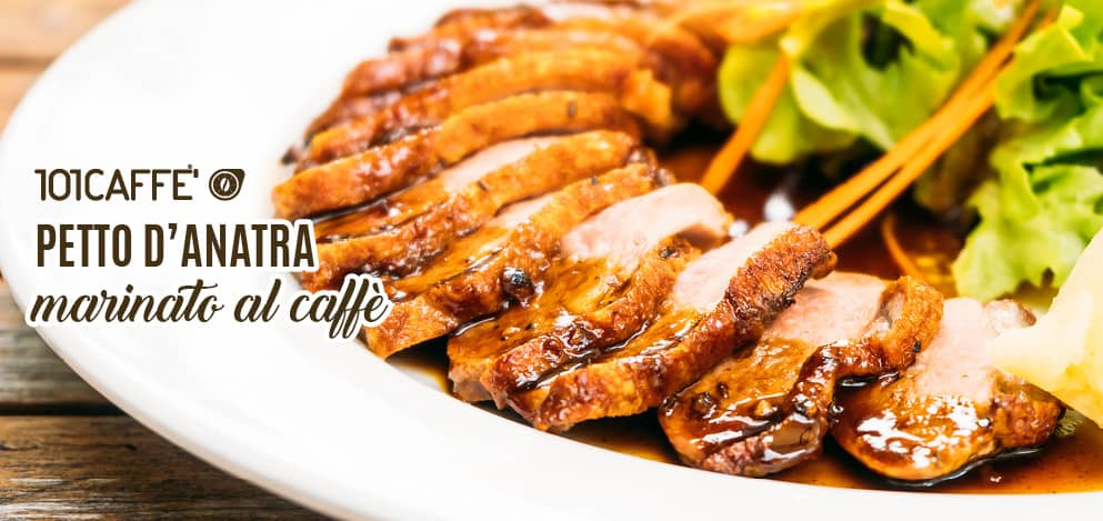 Marinated duck breast coffee-flavored
