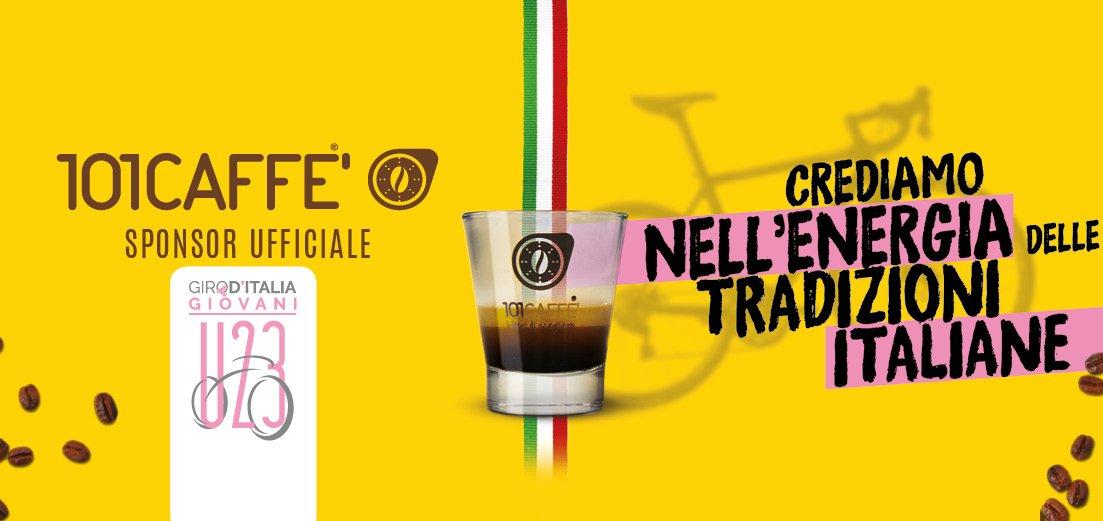 101CAFFE' al debutto della 42° edizione del Giro d'Italia Under 23 con la prima tappa a Riccione