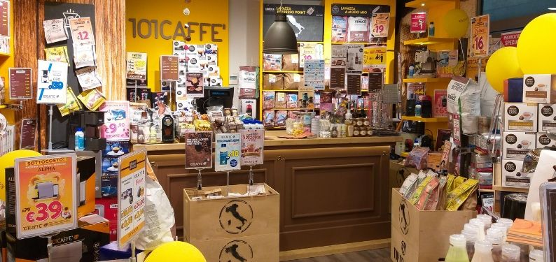 With its stores in Milano Centrale and Roma Termini railway stations, 101CAFFE' debuts in travel retail channel