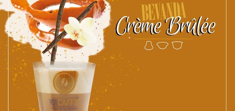 Crème Brûlée de 101CAFFE': une crème enveloppante au caramel qui gagne!