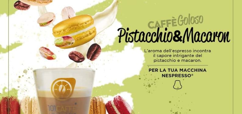 Pistacchio&Macaron by 101CAFFE': a gourmand and charming alliance
