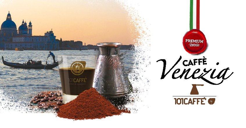 Venice, Italy's gateway to the East, joins 101CAFFE' range with freshly ground blend for Turkish coffee