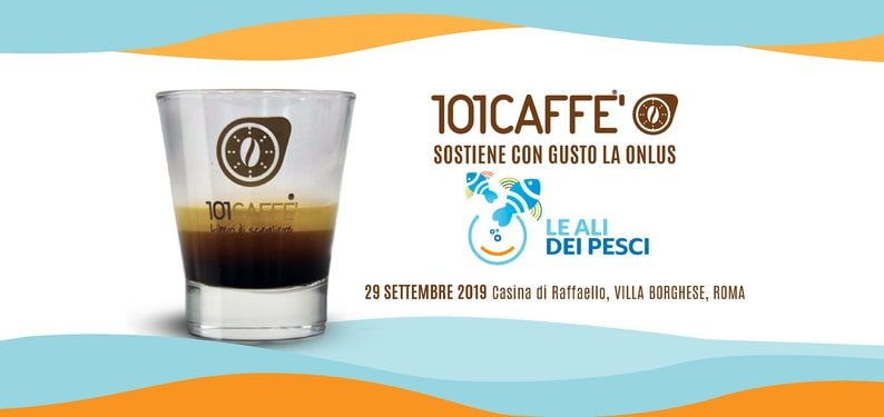 101CAFFE' and LE ALI DEI PESCI ONLUS together at Villa Borghese