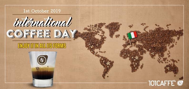 1° OTTOBRE 2019: GIORNATA MONDIALE DEL CAFFE'
