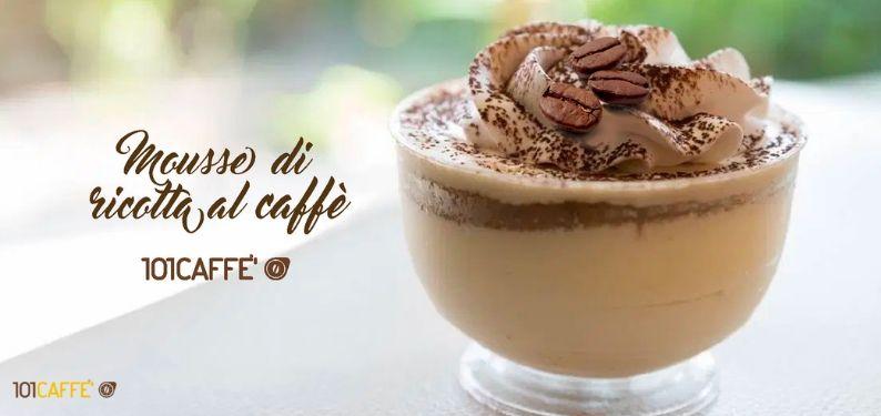 101RECETTES Mousse de ricotta au café
