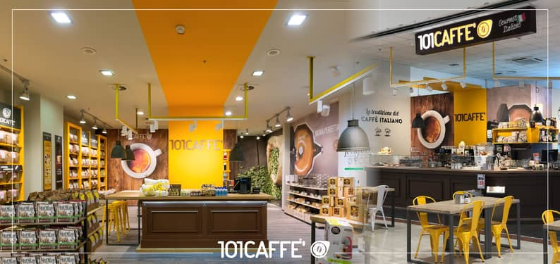 101CAFFE' at HOST Milano and Salone Franchising Milano: from Food Retail to Food Service