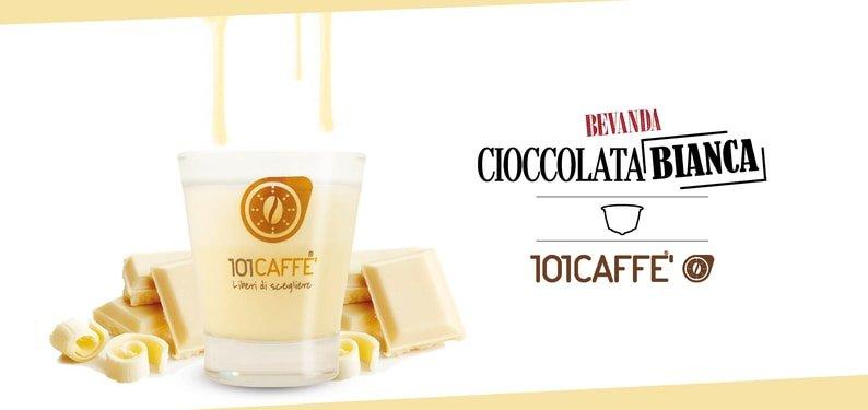 Cioccolata Bianca de 101CAFFE': une étreinte de douceur