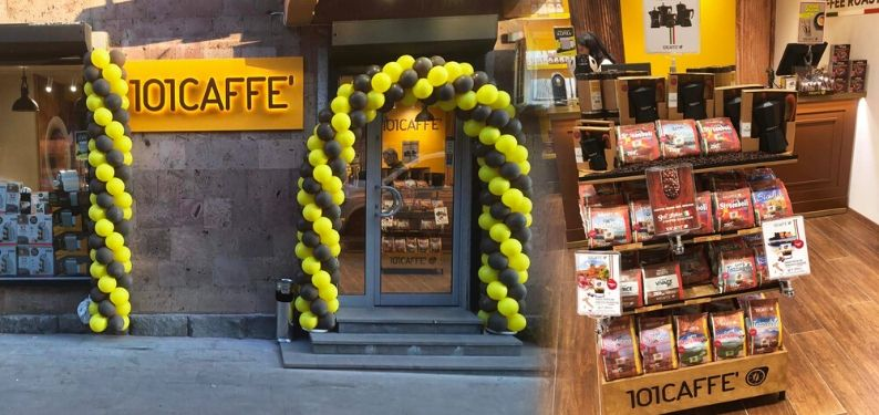 OPENING OF THE FIRST 101CAFFE' STORE IN YEREVAN, ARMENIA