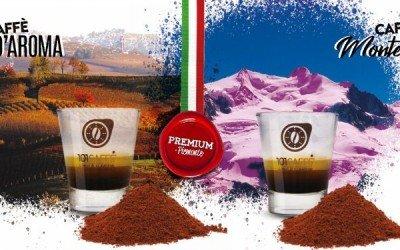 Grand'Aroma and Monte Rosa, our Piedmontese ground coffee