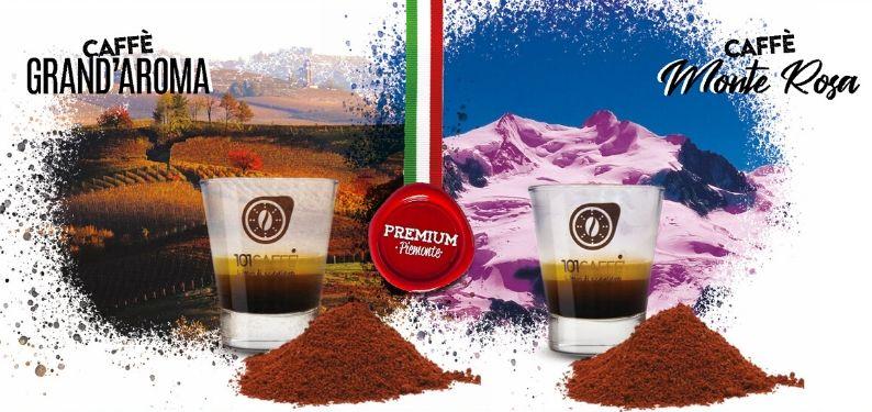 Grand'Aroma e Monte Rosa, i nostri caffè macinati piemontesi