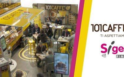 CS – 101CAFFE' al Sigep di Rimini con la caffetteria itinerante