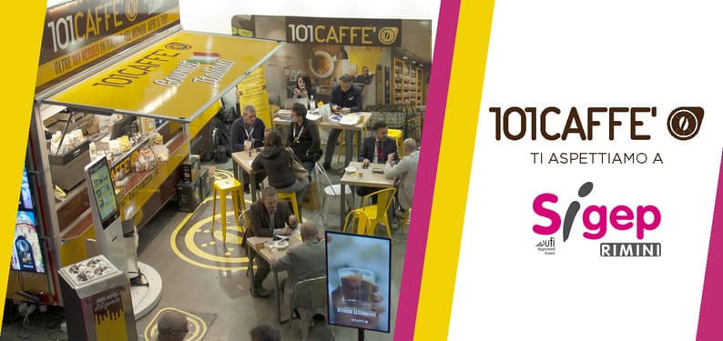 101CAFFE' at Sigep in Rimini with its special truck for coffee service