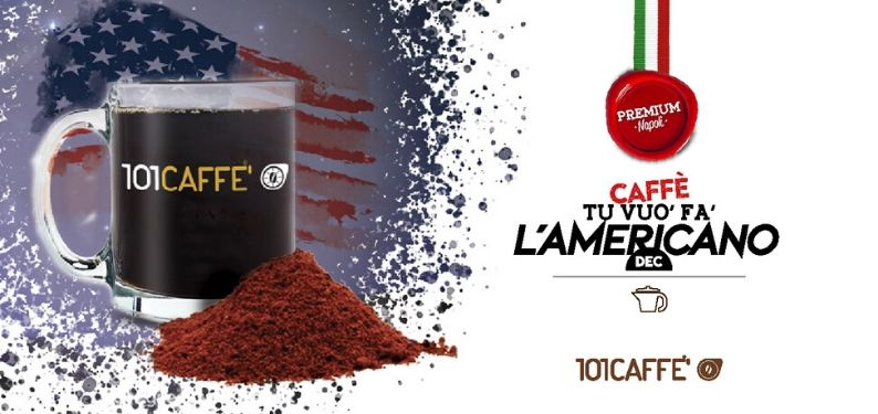 Tu vuo' fa' l'Americano freshly ground Dec by 101CAFFE, the blend for good American coffee
