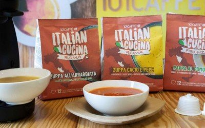 101CAFFE' präsentiert ITALIAN CUCINA: Suppen in Kapseln, genauso leicht in der Zubereitung wie Kaffee!