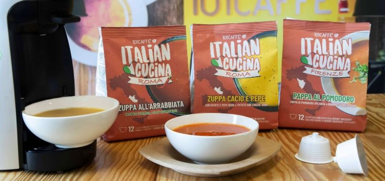 101CAFFE' launches ITALIAN CUCINA: appetizing soups in capsule, fast-to-prepare like coffee!