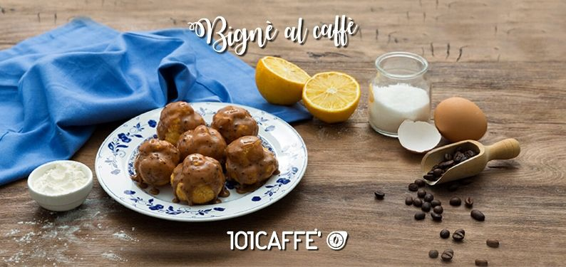 101RECIPES Coffee cream puffs