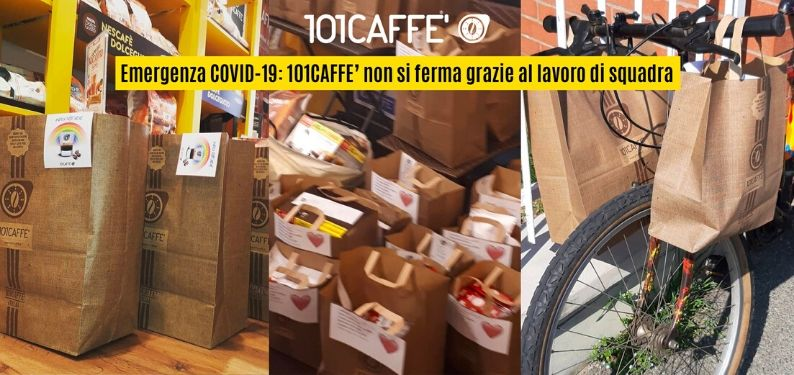 COVID-19 emergency: 101CAFFE' does not stop thanks to teamwork
