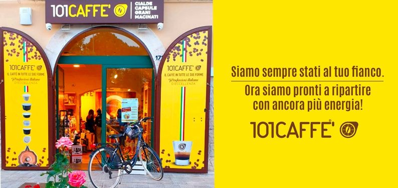 May 18: all 101CAFFE' stores are ready for an energetic restart