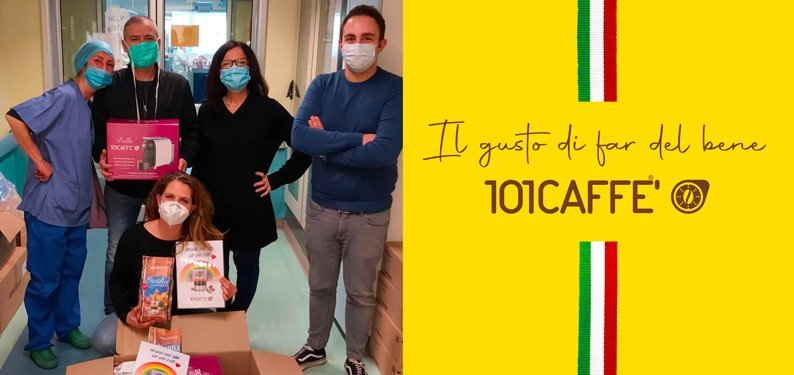 Il gusto della solidarietà di 101CAFFE' per l'Ospedale San Carlo Borromeo di Milano