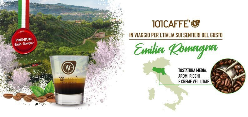 Premium blends by 101CAFFE' from Emilia Romagna region (Central Italy)