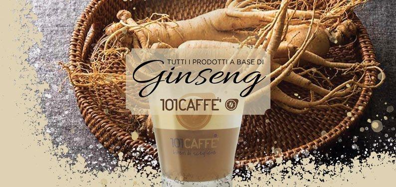 La gamma dei Ginseng di 101CAFFE': una gustosa alternativa al caffè
