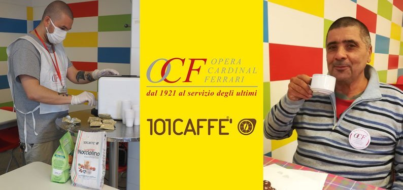 101CAFFE' morning coffee with Opera Cardinal Ferrari Onlus