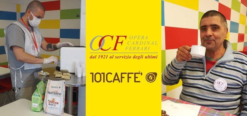 101CAFFE' morning coffee with Opera Cardinal Ferrari Onlus