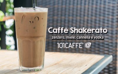 101RECIPES Caffè Shakerato allo zenzero, miele, cannella e Vodka