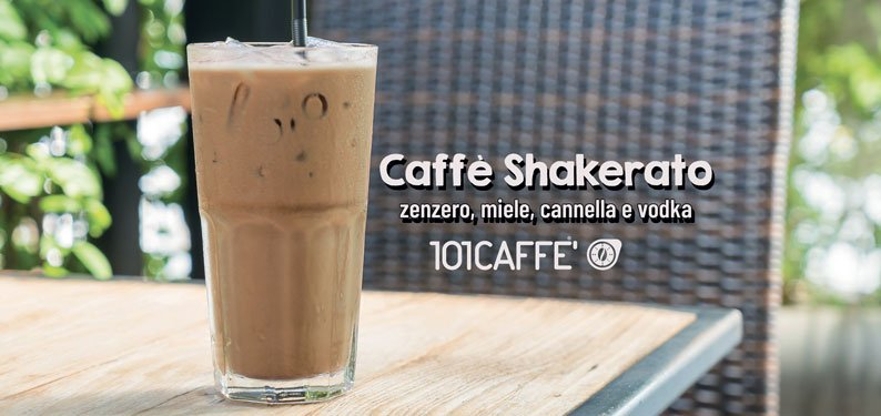 101REZEPTES: Caffè Shakerato mit Ingwer, Honig, Zimt und Wodka