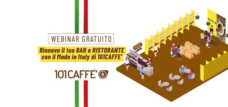 Rinnova il tuo Bar o Ristorante con il Made in Italy di 101CAFFE'