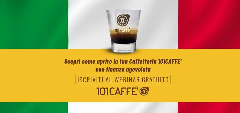 Scopri come aprire la tua caffetteria 101CAFFE' in Franchising con finanza agevolata.