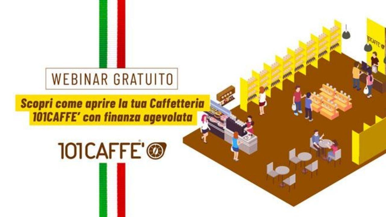 Scopri come aprire la tua caffetteria 101CAFFE' con finanza agevolata