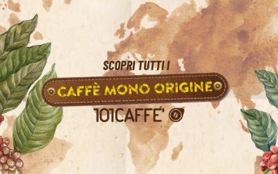 """I mono origine di 101CAFFE': caffè dalle """"personalità"""" uniche per un'esperienza di gusto avvincente"""
