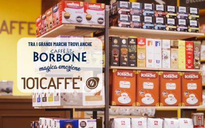 Caffè Borbone has been breaking into 101CAFFE' stores among the other major brands