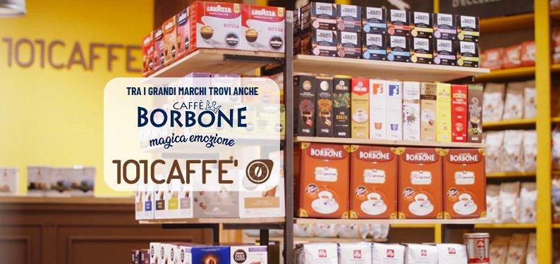 Nouvelle entrée dans les magasins 101CAFFE': la marque Borbone rejoint les autres grandes marques