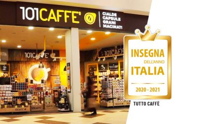 "Insegna dell'Anno (Retailer of the Year) 2020-2021 award: 101CAFFE' wins in ""Tutto Caffè"" (all coffee) category"