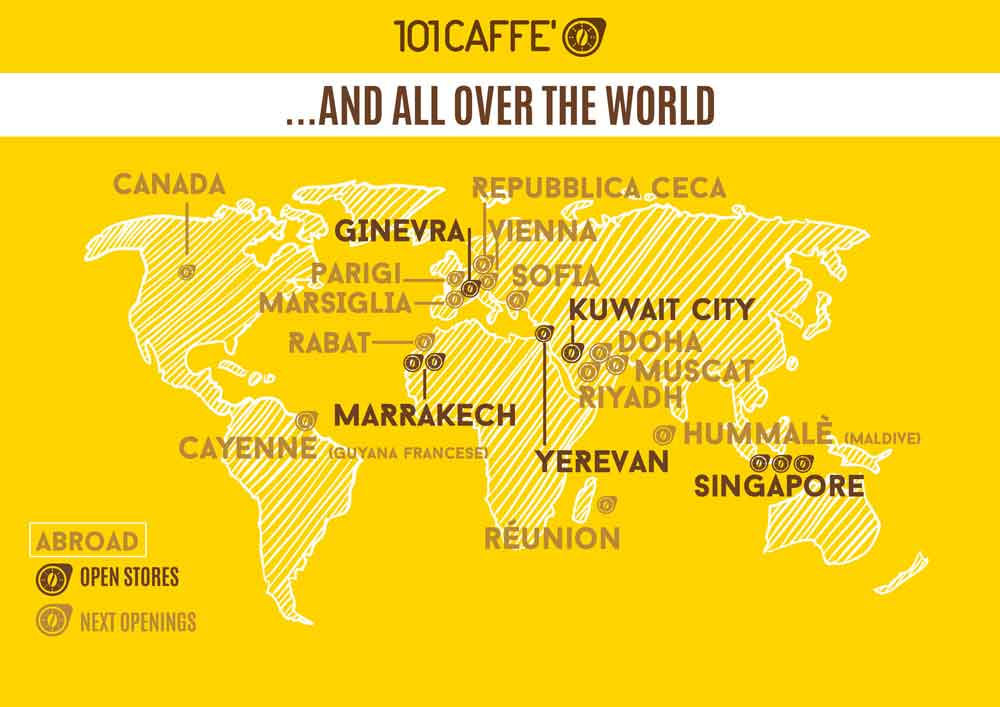 Franchising 101CAFFE' all over the world