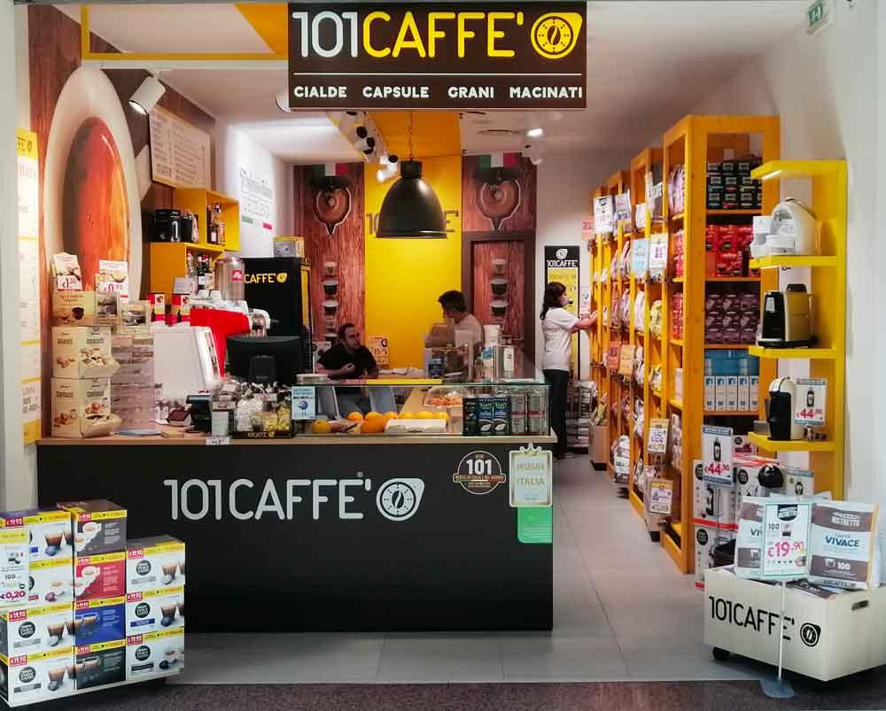 la franchise 101 CAFFE' est aussi un Magasin avec Café à Emporter