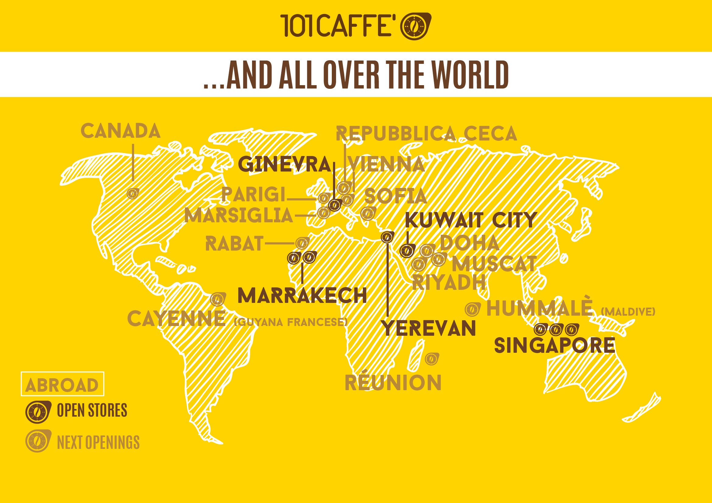 101CAFFE', the only one franchise on artisanal Italian coffee