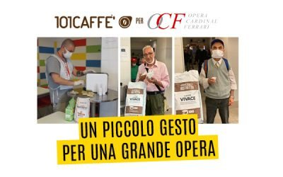 "101Caffè takes part in the solidarity lottery of the Charitable Institution ""Opera Cardinal Ferrari"", in Milan: ""A small action for a great work"""