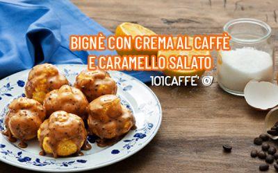 101RECETTES: Choux à la crème au café et caramel au beurre salé