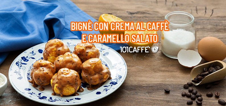 101RECIPES: Cream puffs with coffee and salted caramel