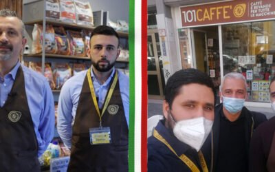 """The 101CAFFE' franchise network is growing: our """"serial"""" franchisees inaugurate their third store in Bolzano and Bollate"""