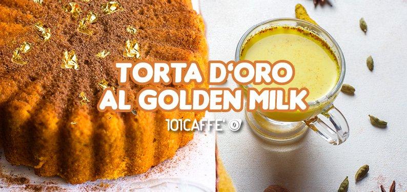Gold- Kuchen mit Golden Milk
