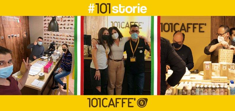 Il franchising di cialde e capsule 101 CAFFE' festeggia nuove aperture