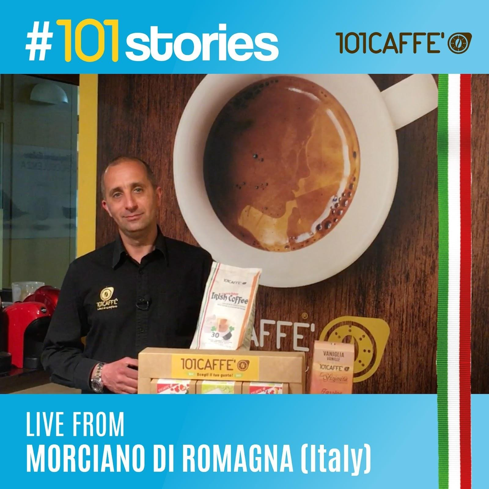 affiliate of the franchising network of 101CAFFE' stores of coffee pods and capsules